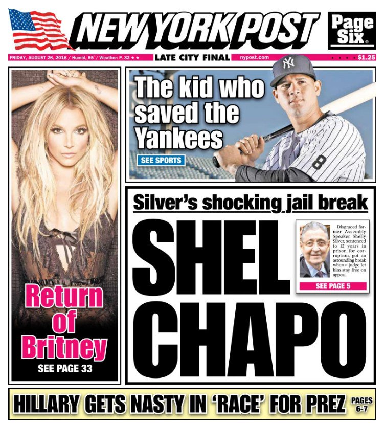 Britney On The Cover Of New York Post - Britney Spears - FOTP